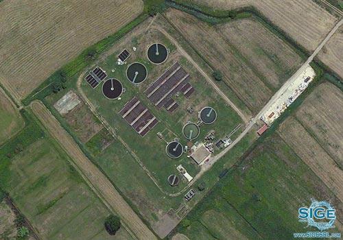 Impianto di depurazione biologico a fanghi attivi del Comune di Cellole