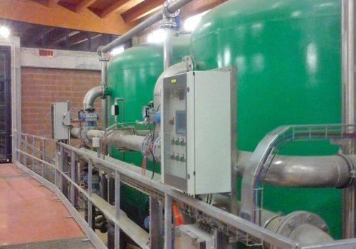 Impianto di potabilizzazione con filtrazione in pressione a sabbia e carbone attivo per il Comune di Scarperia e San Piero
